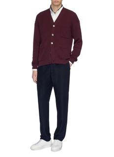 Camoshita Patch pocket Mandarin collar cupro-cotton shirt
