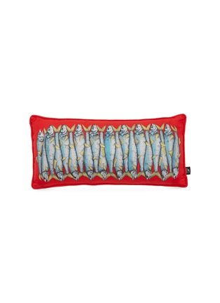 Main View - Click To Enlarge - Fornasetti - Sardine two-sided cushion – Red