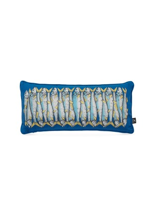 Main View - Click To Enlarge - Fornasetti - Sardine two-sided cushion – Blue