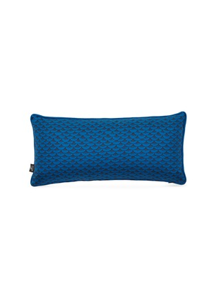 - Fornasetti - Sardine two-sided cushion – Blue