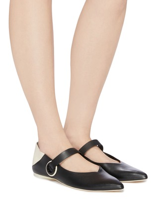Figure View - Click To Enlarge - MERCEDES CASTILLO - 'Amabel' colourblock leather Mary Jane step-in flats
