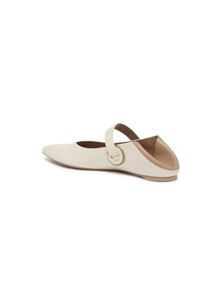 - MERCEDES CASTILLO - 'Amabel' colourblock leather Mary Jane step-in flats