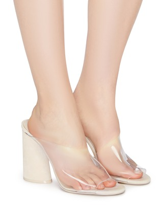 Figure View - Click To Enlarge - MERCEDES CASTILLO - 'Kuri High' PVC sandals