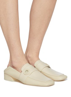 Mercedes Castillo 'Emet' eyelet strap leather step-in loafers