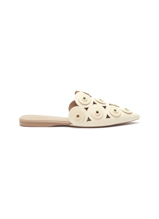Main View - Click To Enlarge - MERCEDES CASTILLO - 'Portia' eyelet cutout leather slides