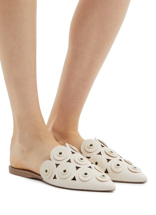 Figure View - Click To Enlarge - MERCEDES CASTILLO - 'Portia' eyelet cutout leather slides