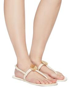 Mercedes Castillo 'Hollen' nailhead disc leather thong sandals