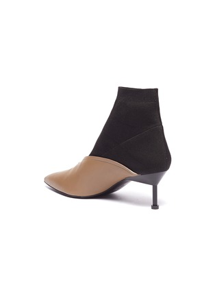 - MERCEDES CASTILLO - 'Kaelen' sock knit panel leather ankle boots