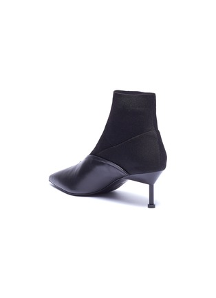 - MERCEDES CASTILLO - 'Kaelen' sock knit panel leather ankle boots