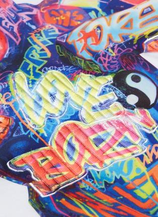 - Juun.J - Graffiti gorilla textured print T-shirt