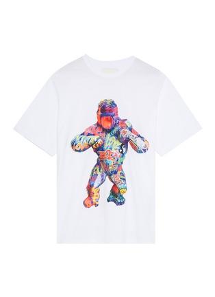 Main View - Click To Enlarge - Juun.J - Graffiti gorilla textured print T-shirt