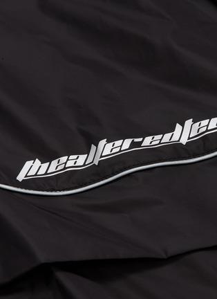 - JUUN.J - Slogan print contrast piping panelled track pants