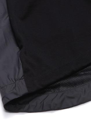 - JUUN.J - Contrast slogan print back patchwork short sleeve hoodie