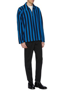 Martine Rose Stripe half-zip long sleeve polo shirt