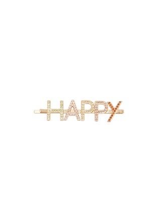 Main View - Click To Enlarge - BIJOUX DE FAMILLE - 'Happy' strass hair pin
