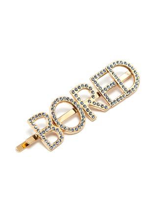 Detail View - Click To Enlarge - BIJOUX DE FAMILLE - 'Bored' Swarovski crystal slogan hair pin