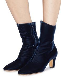 Emma Hope 'High Zippo' velvet ankle boots