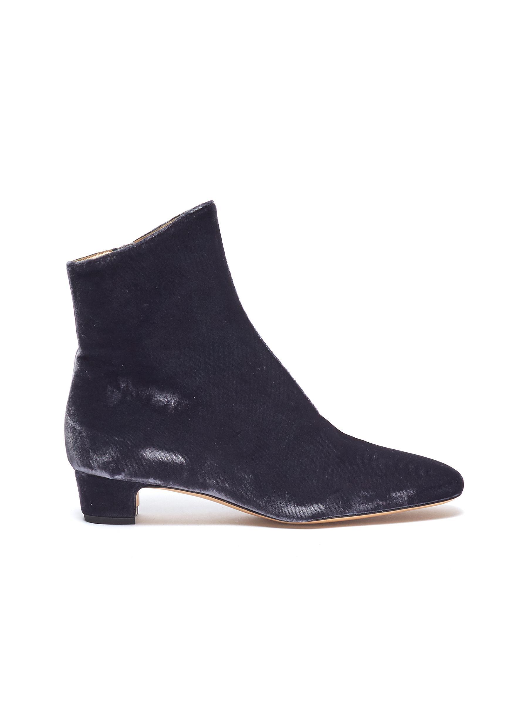 'Zippo' velvet ankle boots