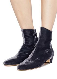 Emma Hope 'Zippo' velvet ankle boots