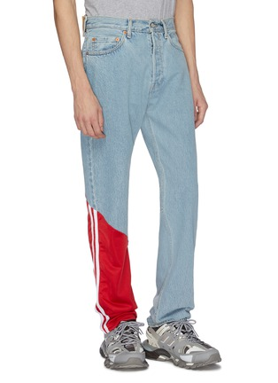 Front View - Click To Enlarge - Vetements - x Levi Strauss & Co. contrast panel patchwork jeans