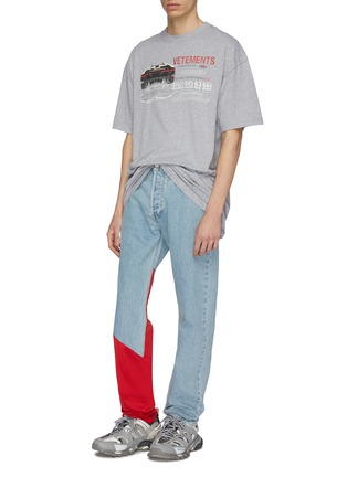 Figure View - Click To Enlarge - Vetements - x Levi Strauss & Co. contrast panel patchwork jeans