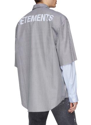 - VETEMENTS - Logo print layered sleeve unisex shirt