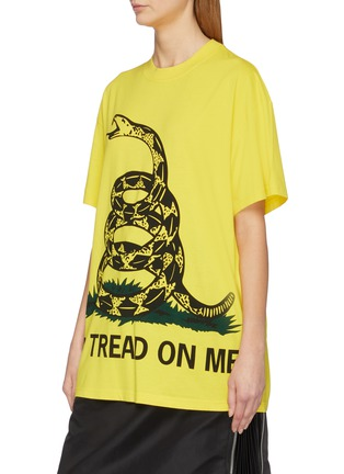 Front View - Click To Enlarge - VETEMENTS - Snake slogan print unisex T-shirt
