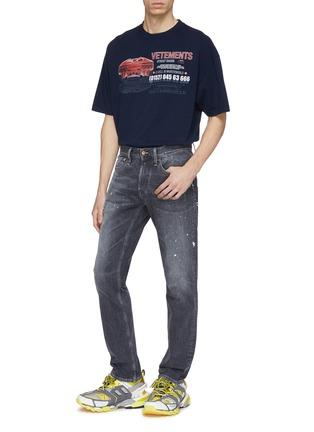 - Vetements - 'Car Hotline' slogan graphic print oversized unisex T-shirt