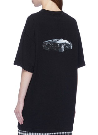 Back View - Click To Enlarge - Vetements - 'Car Hotline' slogan graphic print oversized unisex T-shirt