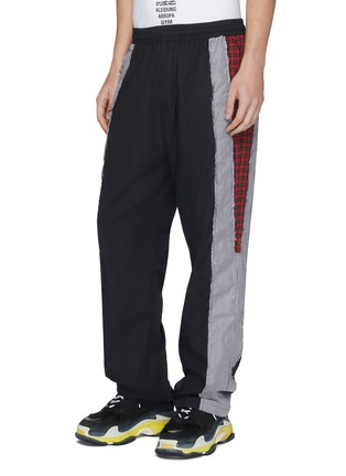 Detail View - Click To Enlarge - VETEMENTS - Mix pattern stripe outseam unisex track pants
