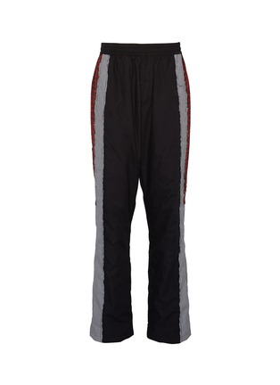 Main View - Click To Enlarge - VETEMENTS - Mix pattern stripe outseam unisex track pants