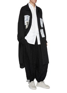 Yohji Yamamoto Mix appliqué coat