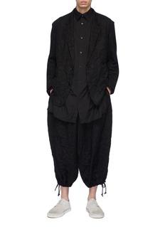 Yohji Yamamoto Crinkled twill balloon pants