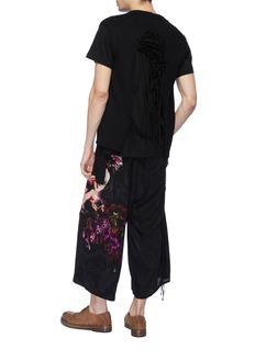 Yohji Yamamoto Distressed macramé lace back knit vest