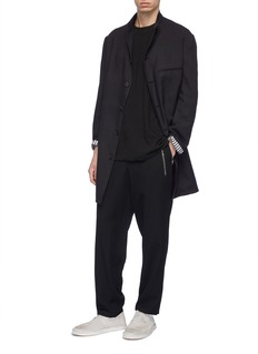 Yohji Yamamoto Zip pocket pleated wool pants