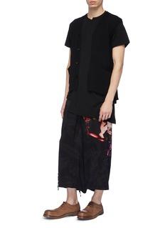 Yohji Yamamoto Floral lady print wide leg pants