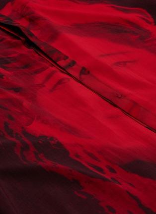 - Yohji Yamamoto - Floral lady print high-low shirt coat