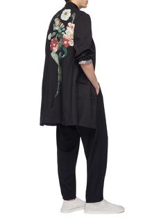 Yohji Yamamoto Floral lady print wool coat