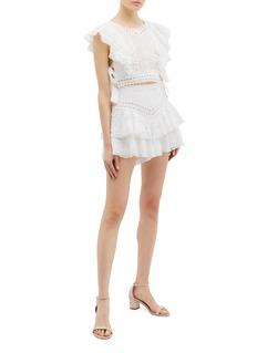 Zimmermann 'Heathers' tiered ruffle lace shorts