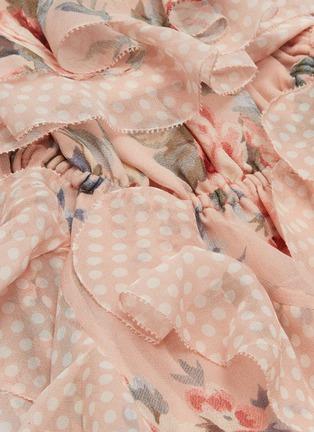 - Zimmermann - 'Bowie Waterfall' ruffle floral print silk strapless dress