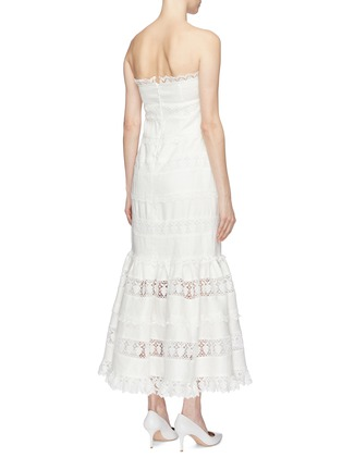 20f4ee1362 Back View - Click To Enlarge - Zimmermann -  Wayfarer  lace trim linen  strapless
