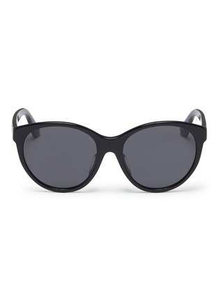 Main View - Click To Enlarge - GUCCI - Glass crystal logo acetate round sunglasses