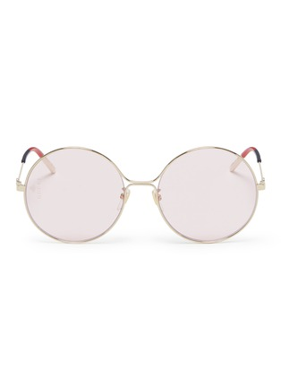 Main View - Click To Enlarge - GUCCI - Metal round sunglasses