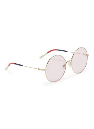 Figure View - Click To Enlarge - GUCCI - Metal round sunglasses