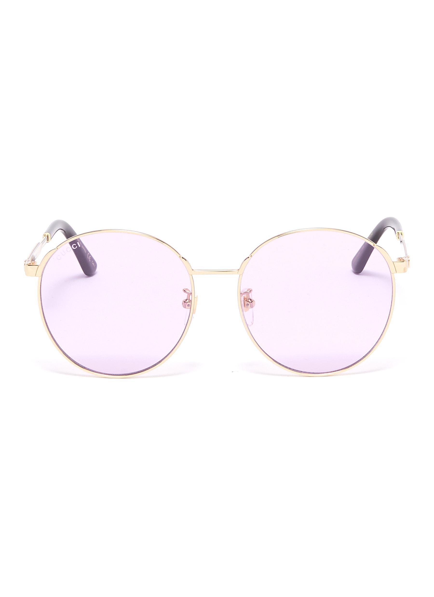 2c27f3a1c GUCCI | Metal round sunglasses | Women | Lane Crawford