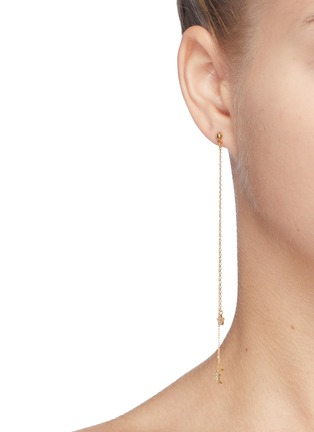 Figure View - Click To Enlarge - Cloverpost - 'Night Whirl' glass crystal star moon drop earrings