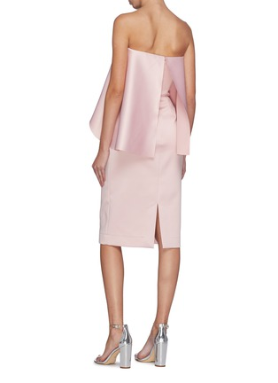 Back View - Click To Enlarge - SOLACE LONDON - 'Coleta' ruffle drape strapless dress