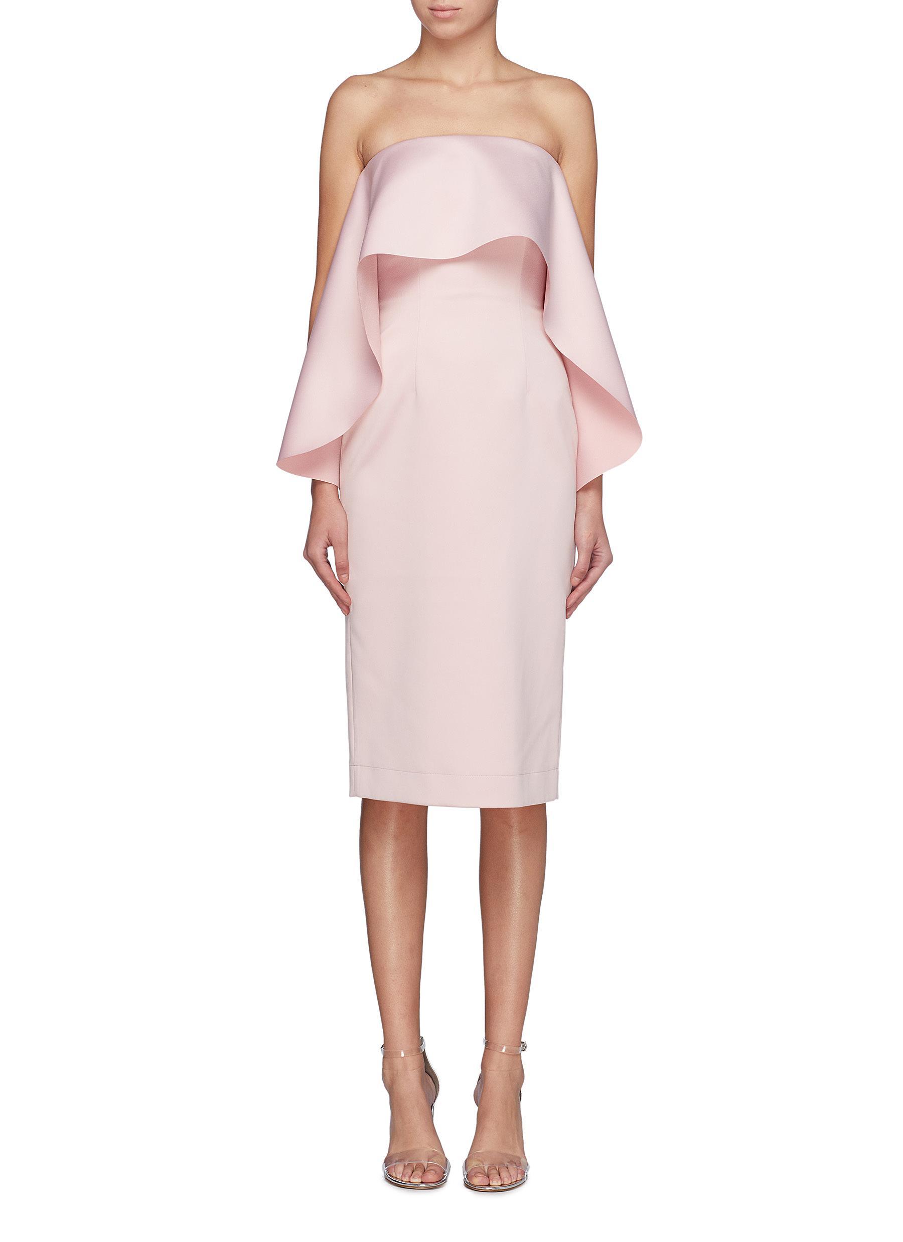 shop Solace London 'Coleta' ruffle drape strapless dress online