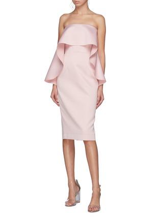 Figure View - Click To Enlarge - SOLACE LONDON - 'Coleta' ruffle drape strapless dress