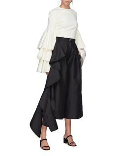 Solace London 'Margo' ruffle drape culottes